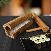 MikaMax- Sushi Maker- Sushiroller - Sushi Roller Kit - Sushi Maken - Sushi Bazooka - Sushezi - Bamboe- Maki Master  - Luxe Sushi Set - Incl. Pers