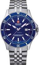 Swiss Military Hanowa 06-5161.2.04.003 horloge heren - zilver - edelstaal