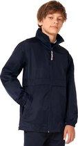 Regenkleding voor jongens/meisjes marineblauw - Sirocco windjas/regenjas voor kinderen 12-13 jaar (152/164) marine