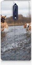 Nokia 8 Standcase Hoesje Design Honden