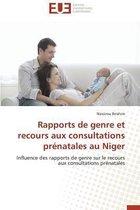 Rapports de Genre Et Recours Aux Consultations Pr�natales Au Niger