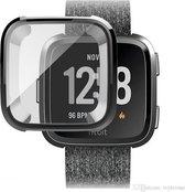 2x Full Cover Screen Protector Cover Case Bumper Hoes Voor Fitbit Versa (Lite) - Beschermkap Beschermhoes