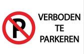 Verboden te parkeren 20x30cm