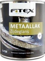 Fitex-Metaallak-Zijdeglans-Ral 9016 Verkeerswit 1 liter