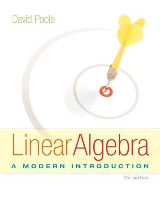 Boek cover Linear Algebra van David Poole (Hardcover)