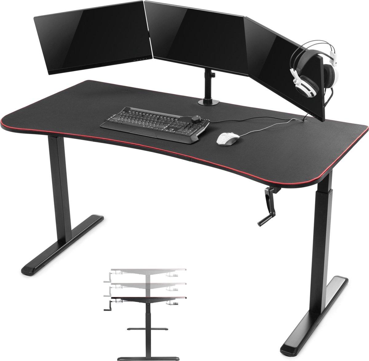 Computer game bureau gaming desk Thomas - zit sta - in hoogte verstelbaar - 160 cm x 80 cm