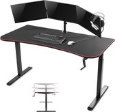 Computer game bureau gaming desk Thomas zit sta in hoogte verstelbaar 160 cm x 80 cm