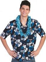 Blauwe Hawaii blouse Honolulu 56-58 (2xl/3xl)