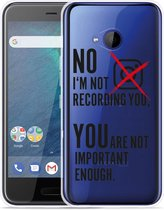 HTC U11 Life Hoesje Not recording you