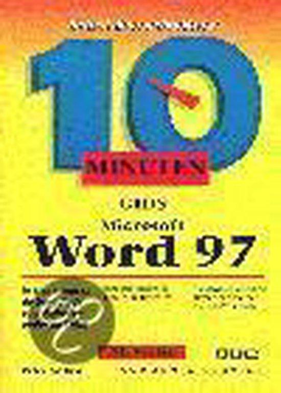 Cover van het boek '10 minuten gids Word 97 / NL versie' van Peter Aitken