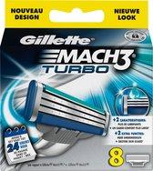 Gillette Mach3 Turbo - 8 stuks - Scheermesjes