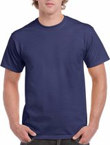 Donkerblauw katoenen shirt voor volwassenen S (36/48)