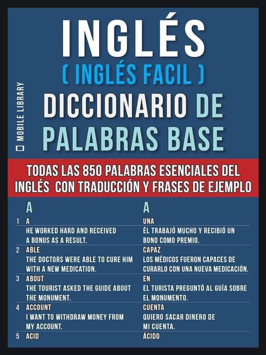 Bol Com Inglés Inglés Facil Diccionario De Palabras Base Ebook Mobile Library