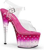 Pleaser Sandaal met enkelband -36 Shoes- STARDUST-708T US 6 Roze