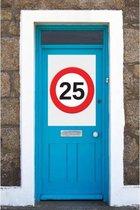 25 jaar verkeersbord mega deurposter