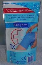 Cold Bandage -3,2m x 10 cm - Eenmalig - 1 stuk