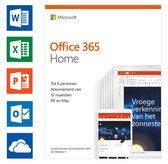Microsoft Office 365 Home - 1 jaar abonnement (code in doosje)