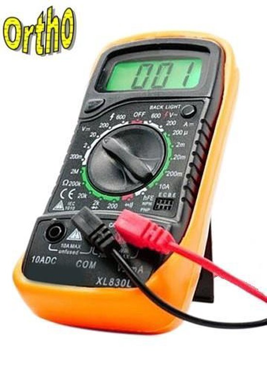 Ortho - Digitale multimeter Universeel meter plus Connectie/verbindings meter