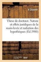 Th se de Doctorat. Essai d'Une tude Critique Sur La Nature Et Les Effets Juridiques