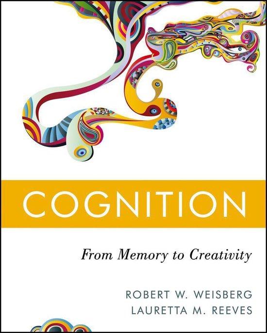 Boek cover Cognition van Robert W. Weisberg (Onbekend)