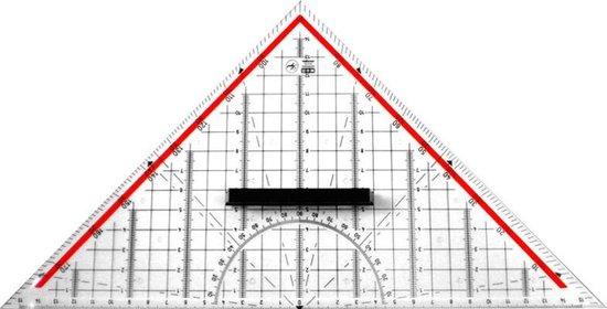 Afbeelding van Geodriehoek M鯾ius & Ruppert 30cm plexiglas transparant voor technisch tekenen