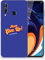 Samsung Galaxy A60 Siliconen hoesje met naam Never Give Up
