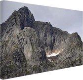 Bergtop Canvas 120x80 cm - Foto print op Canvas schilderij (Wanddecoratie woonkamer / slaapkamer)