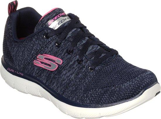 Skechers Flex Appeal 2.0 High Energy Sneakers Dames Navy Maat 36