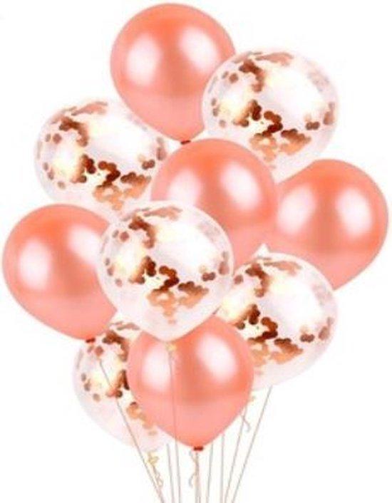 confetti ballon rose gold 30 stuks