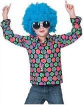 Jaren 70 disco overhemd voor kids 140 (10 jaar)