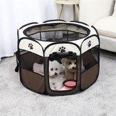 Opvouwbare bench voor hond, kat, konijn of knaagdieren - hondenbench - reisbench - stoffen bench - hondenkooi - transportbench