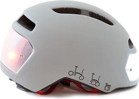 Torch T2 Limited edition Grijs Brompton - fietshelm met ingebouwde voor- en achter verlichting