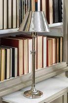 Riviera Maison Hampton Lobby Lamp incl round shade - Tafel lamp - Zilver