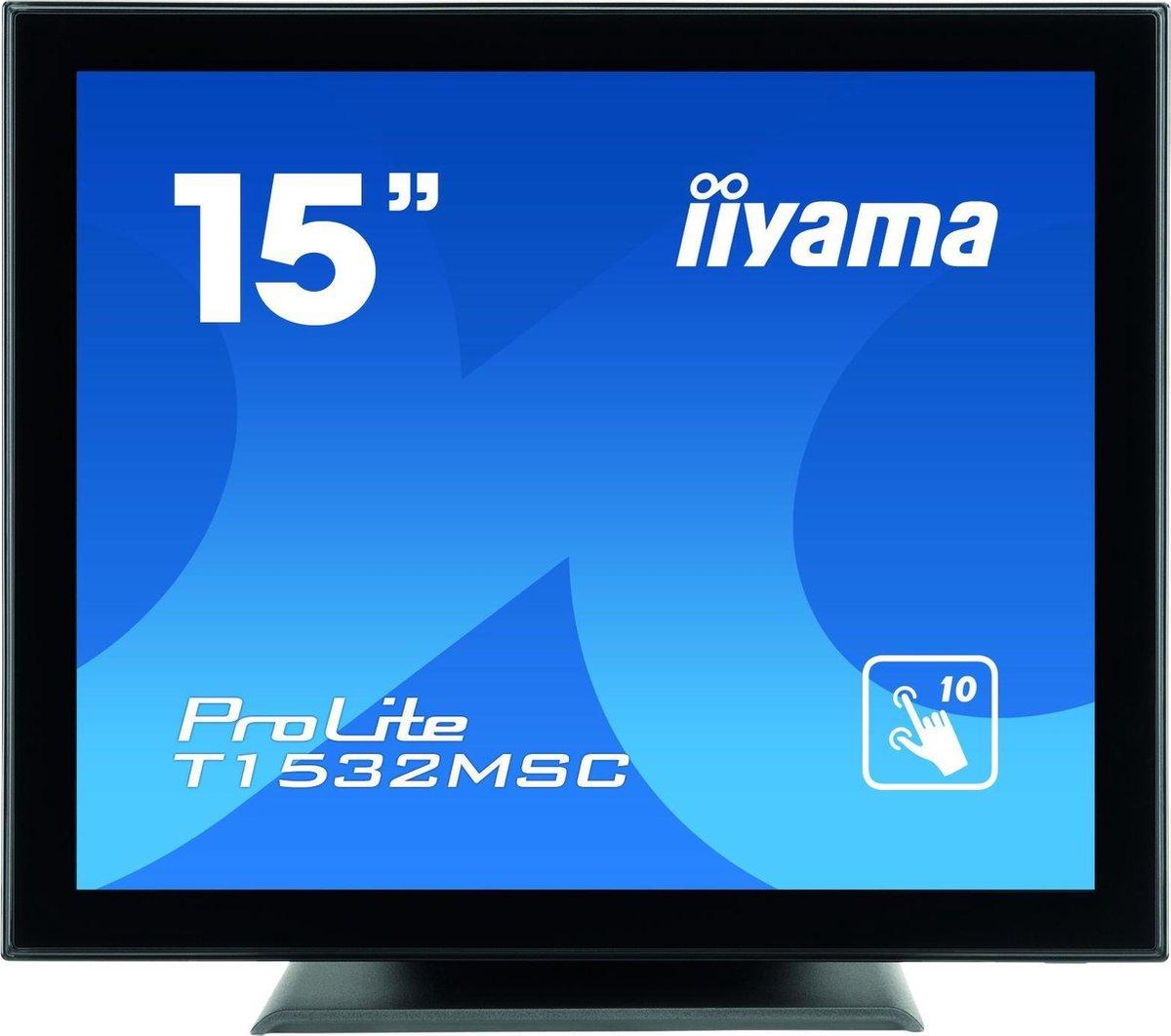 iiyama ProLite T1532MSC-B5AG touch screen-monitor 38,1 cm (15) 1024 x 768 Pixels Zwart