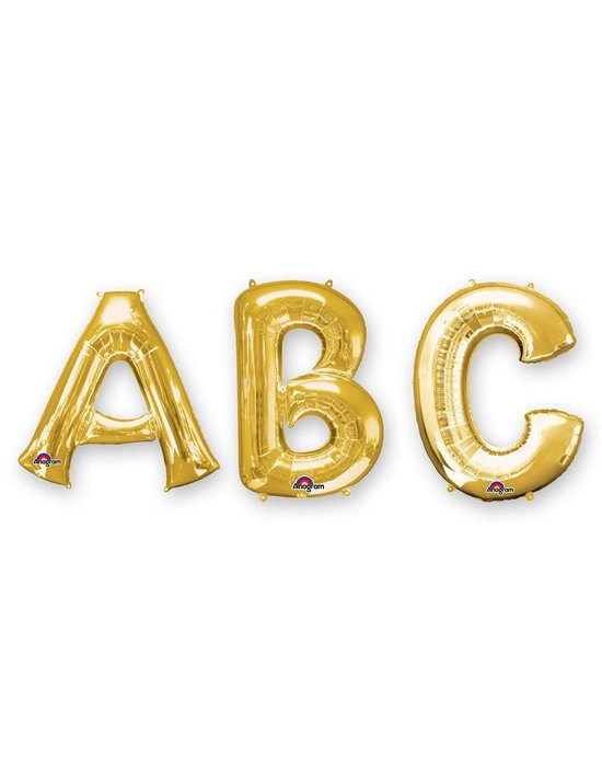 Goudkleurige grote aluminium letter ballon - Feestdecoratievoorwerp
