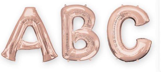 Rosé gouden aluminium letter ballon - Feestdecoratievoorwerp