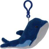 Tender Toys Knuffeldolfijn Blauw/wit 18 Cm