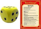 Sinterklaas spel met gele dobbelsteen - Pakjesavond Sinterklaasspel dobbelstenen set
