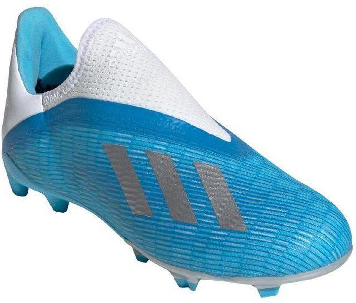 Adidas X 19.3 LL FG Jr Voetbalschoenen Grasveld blauw licht 38