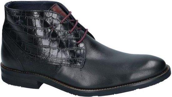 Fluchos -Heren -  zwart - bottine gekleed - maat 45
