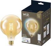 WiZ Globe Filament Slimme LED Verlichting - Warm- tot Koelwit Licht - E27 - 50W - 125 mm - Goud - Wi-Fi