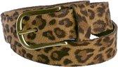 Luipaard riem - Leopard V45 Brown  Dames riem - Broekriem Dames - Dames riem -  Dames riemen - heren riem - heren riemen - riem - riemen - Designer riem - luxe