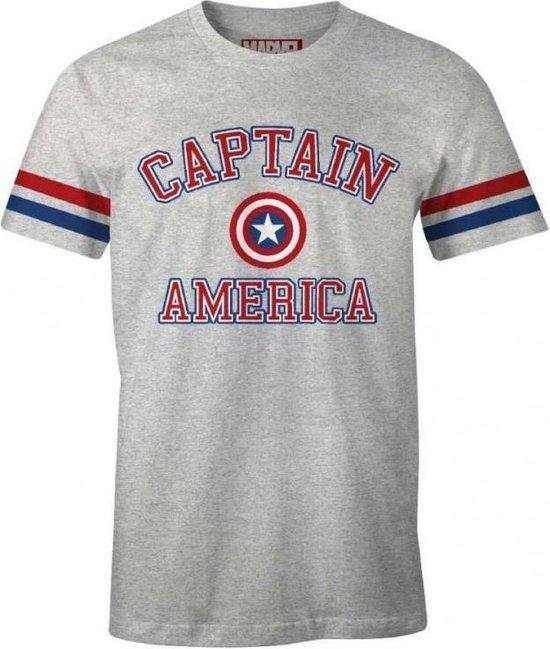 MARVEL - T-Shirt Baseball - Captain America (S)