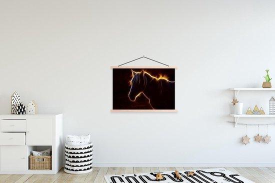 Bol Com Silhouette Paard Textielposter Latten Blank 90x60 Cm Foto Print Op Schoolplaat