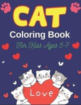 CAT Coloring Book For Kids Ages 5-7