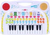 Let's Play Kinderpiano - Keyboard met Opnamefunctie - Met Dierengeluiden - 38 cm