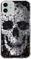 Apple iPhone 12 / iPhone 12 Pro hoesje Doodle Skull BW Casetastic Smartphone Hoesje softcover case