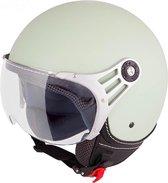 Vinz Stelvio Jethelm Mat Mint Groen / Scooterhelm / Brommerhelm / Motorhelm / Fashionhelm voor Scooter / Vespa / Brommer / Motor