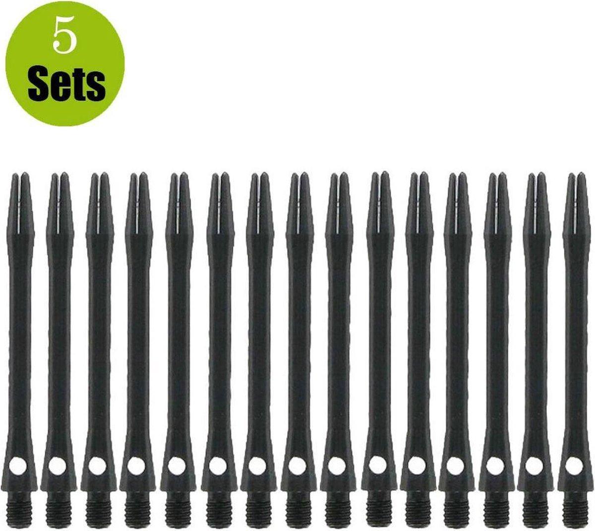 Aluminium Dart Shafts - Zwart - In Between - (5 Sets)