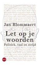 Boek cover Let op je woorden van Blommaert